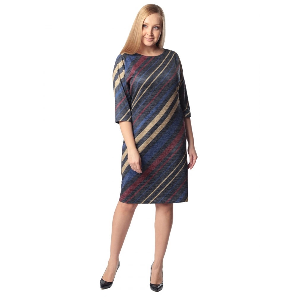 Платье ЭМИЛИ в86 вискоза цвет темно-синий