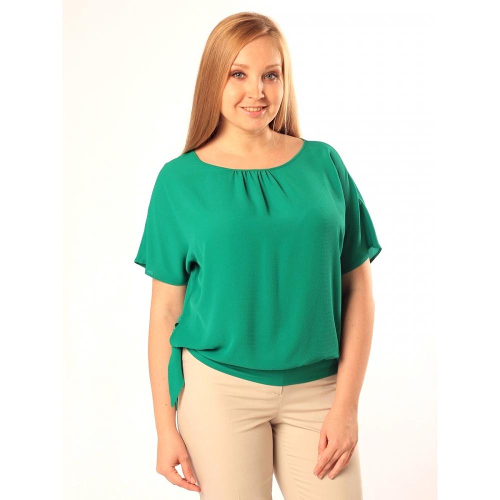 Блузка Саманта №3 вискоза цвет васильковый, желтый, бирюзовый, белый, розовый