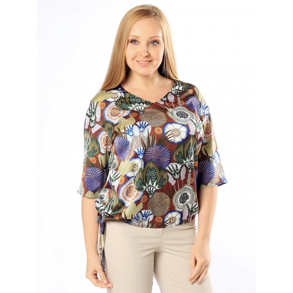 Блузка Эмилия б83 поливискозный шелк цвет синий