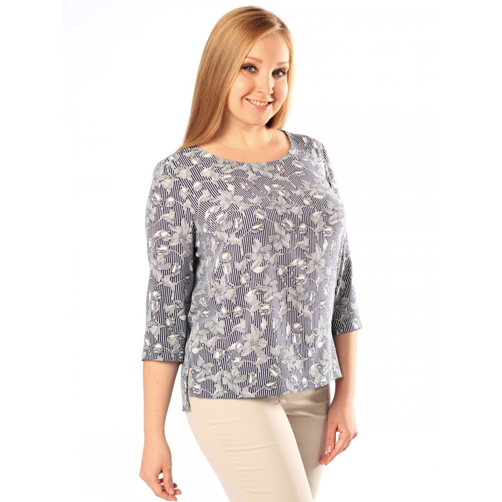 Блузка Розали б85 вискоза цвет серый