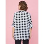JADO Блуза 220-01-02 черно-белая