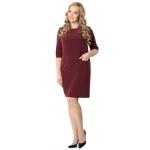Платье Джоан №2 а38 костюмная цвет бордовый