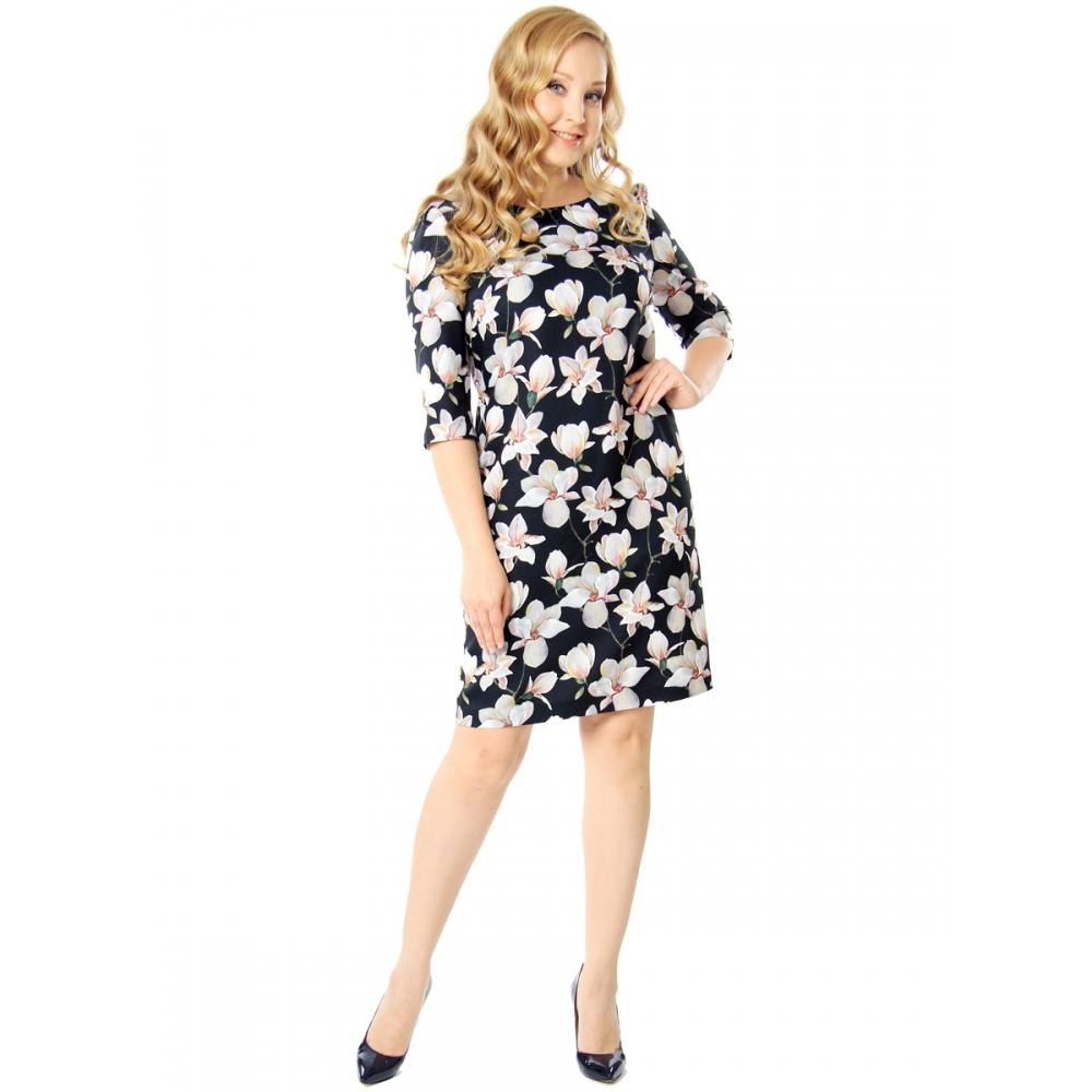Платье Сабрина вискоза цвет мультиколор