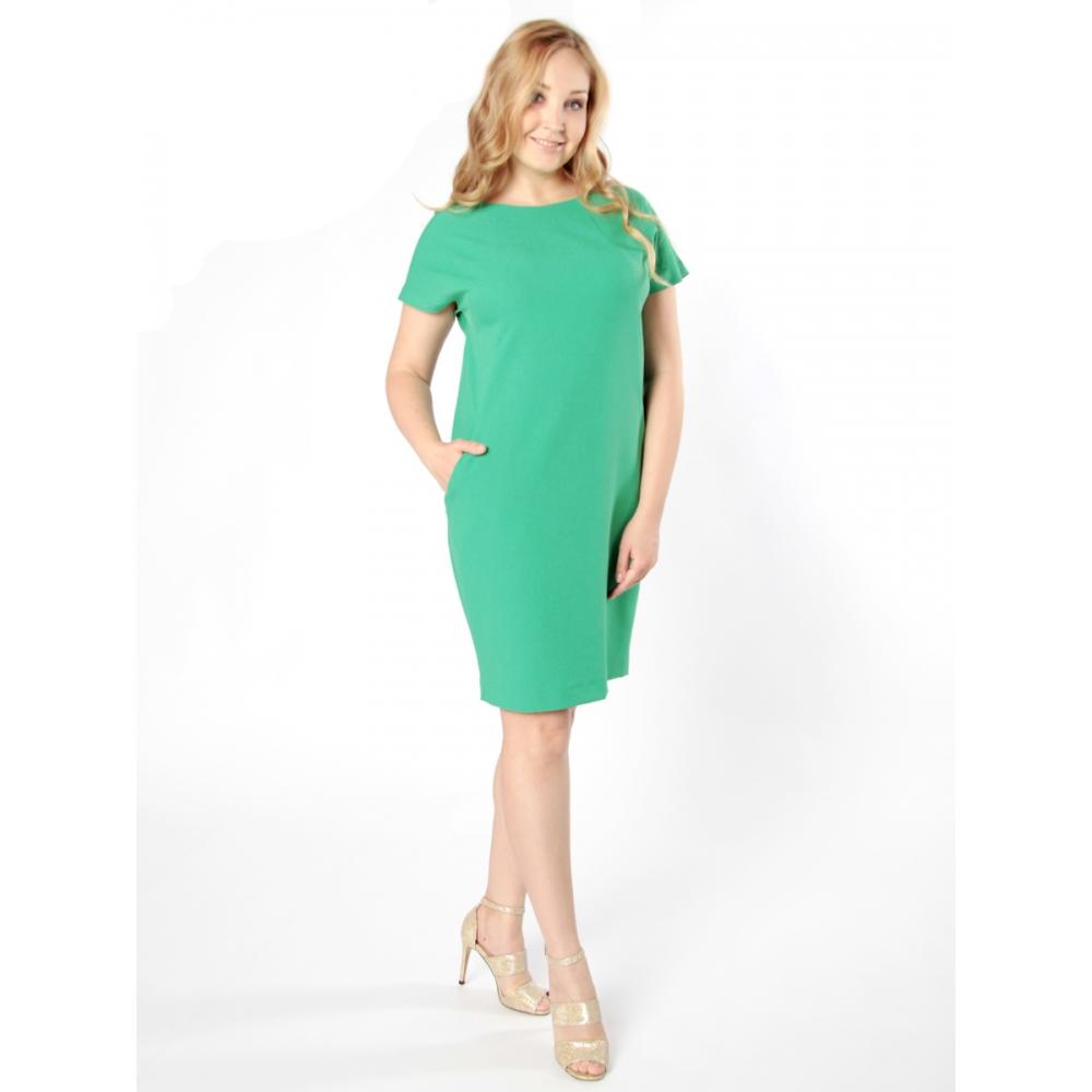 Платье Луиза №2 а14 льняная смесовая цвет морская волна