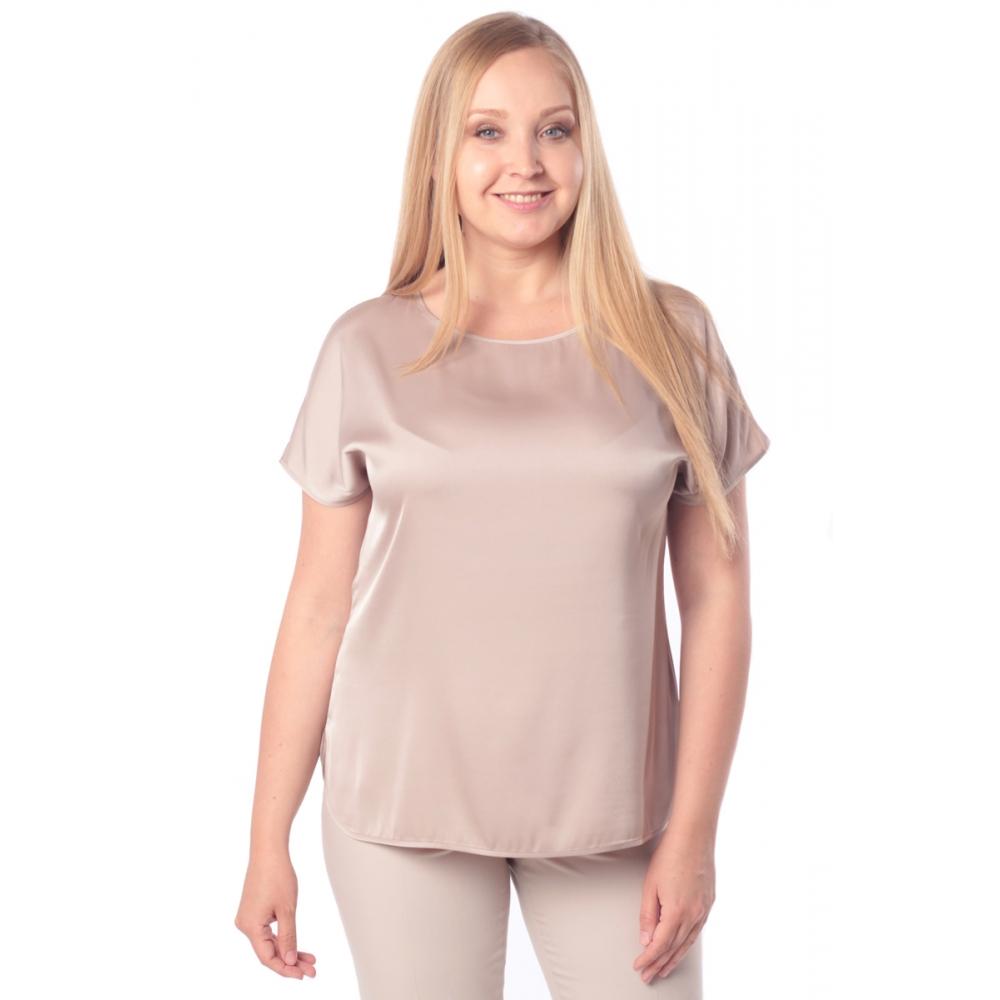Блузка ЛИЛЯ №2 а15 вискоза цвет золотисто-бежевый