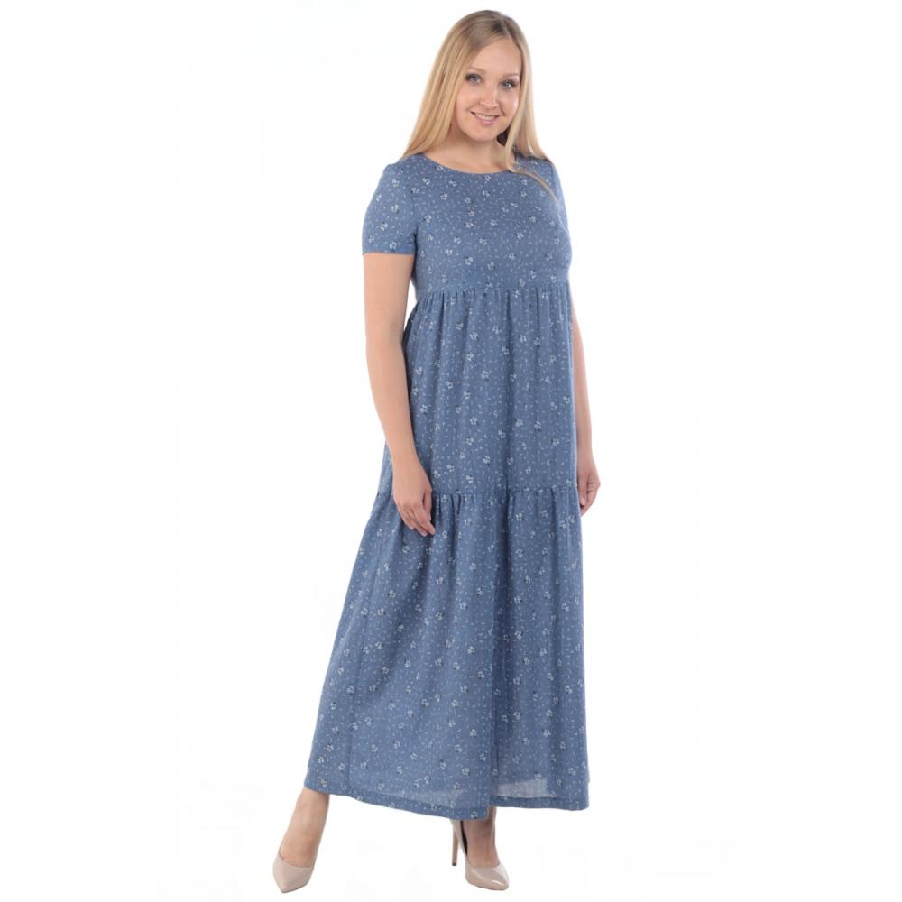 Платье Аэлита бб28 хлопок цвет синий