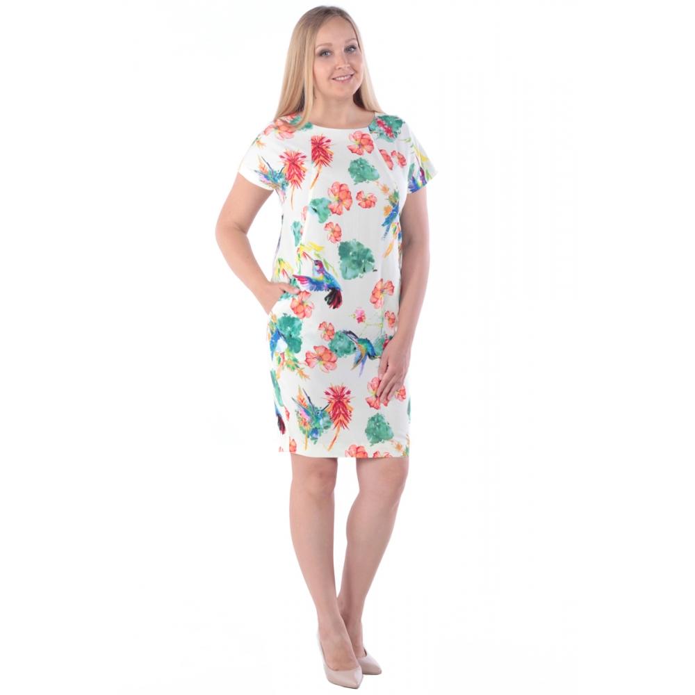 Платье Луиза №4 бб30 вискоза цвет разноцветный