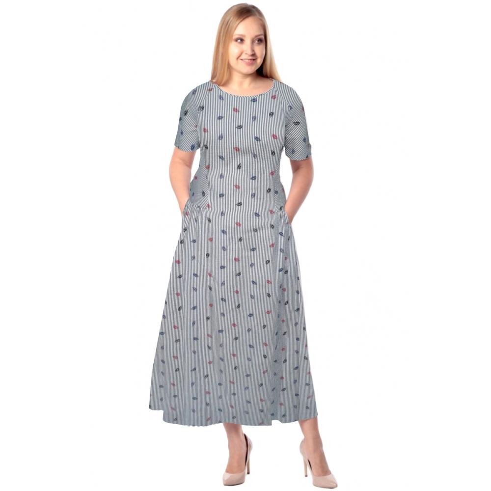 Платье ДЭЯ №5 бб32 вискоза цвет голубой