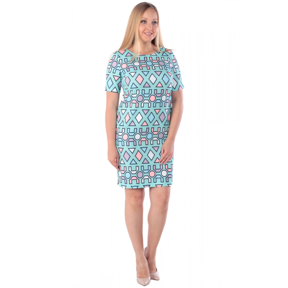 Платье РИТМ г41 вискоза цвет бирюза