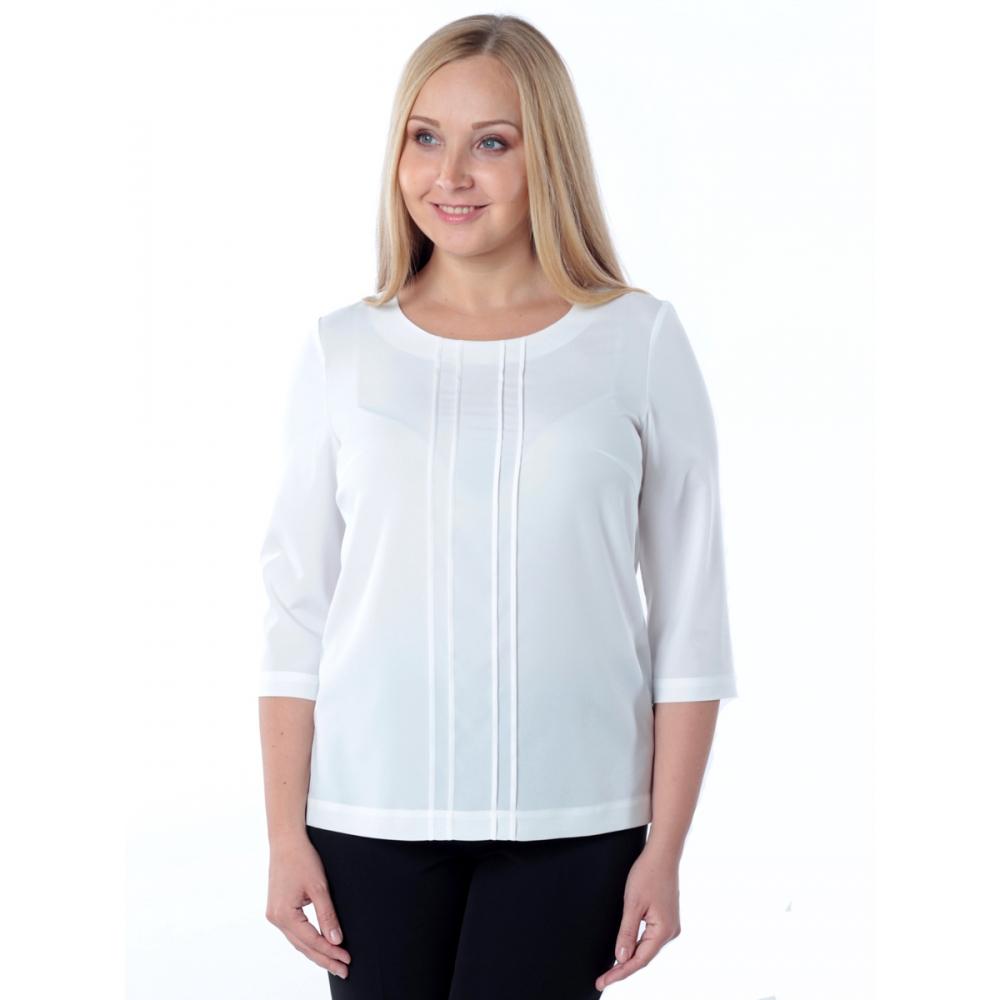 Блузка ВАНЕССА №2 а43 шелк цвет молочный