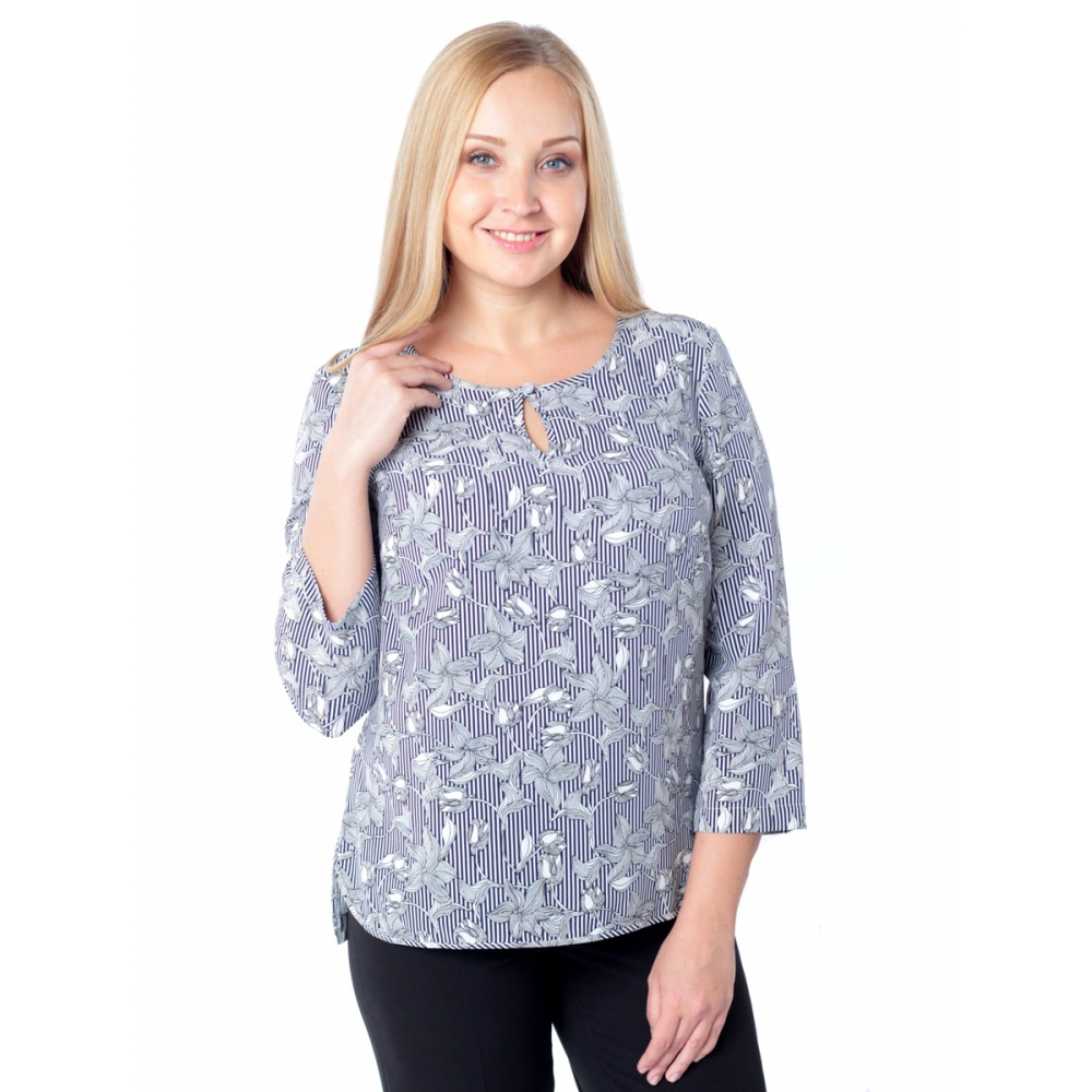 Блузка Ария б85 вискоза цвет серый