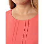 Блузка ВАНЕССА №2 а01 шелк цвет коралловый