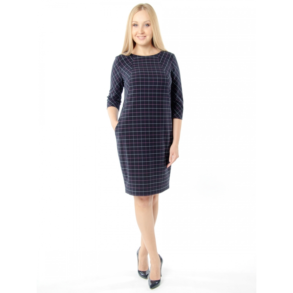 Платье Рондо вискоза цвет синий