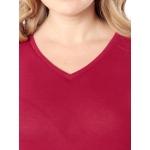 Блузка Ракель а22 вискоза цвет бордовый