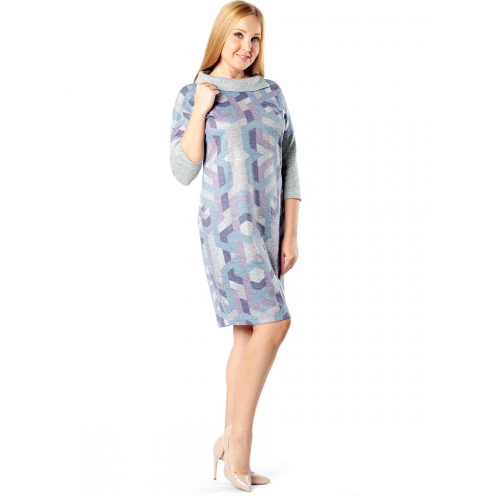 Платье Ингрид в41  вискоза цвет голубой