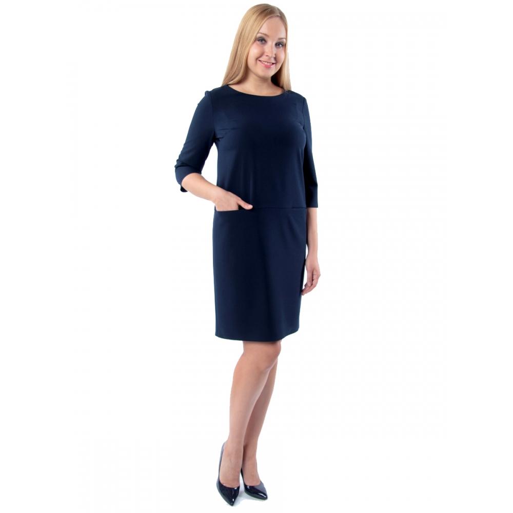 Платье Джоан №3 а79 вискоза цвет синий