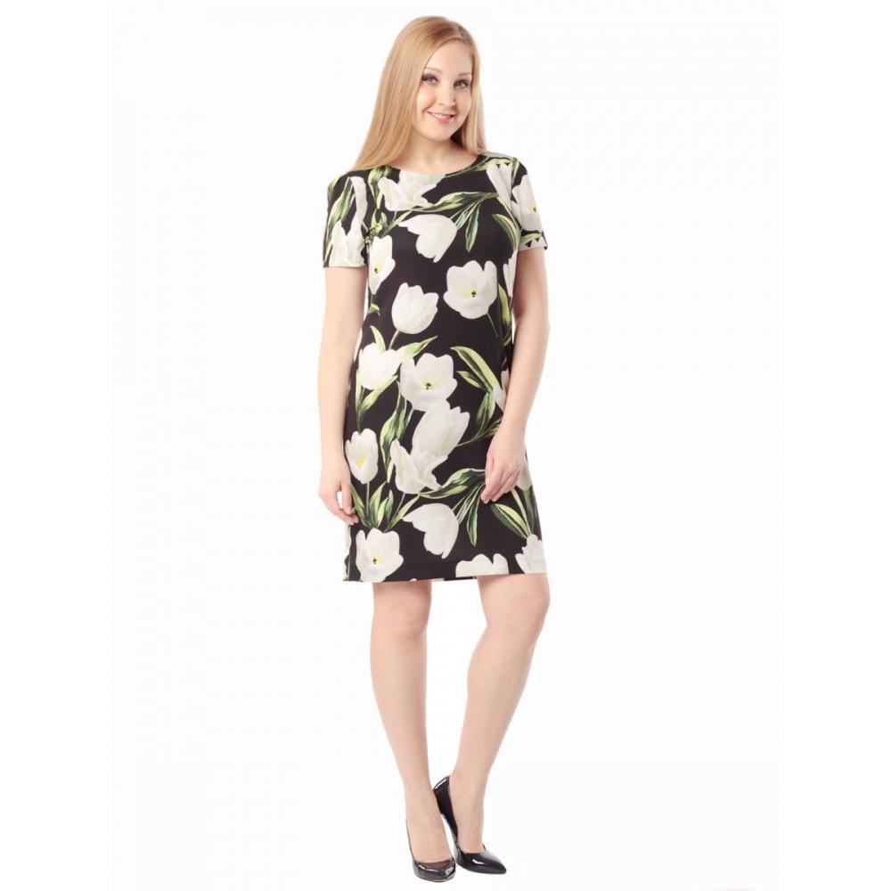 Платье Одри б12 вискоза цвет черный