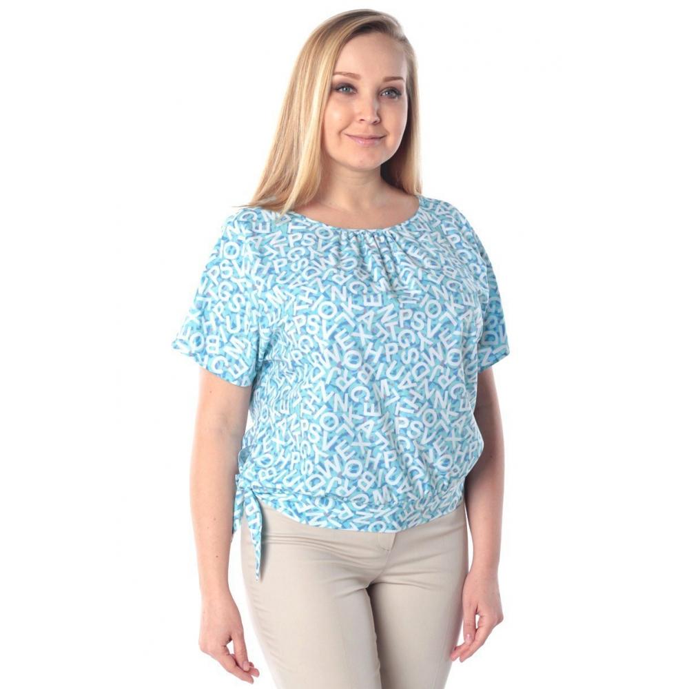 Блузка Саманта №6 г66 вискоза цвет голубой