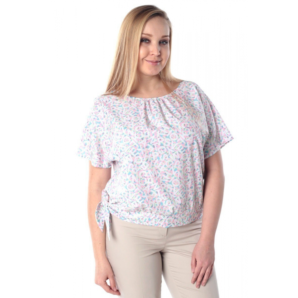 Блузка Саманта №6 г67 вискоза цвет розовый