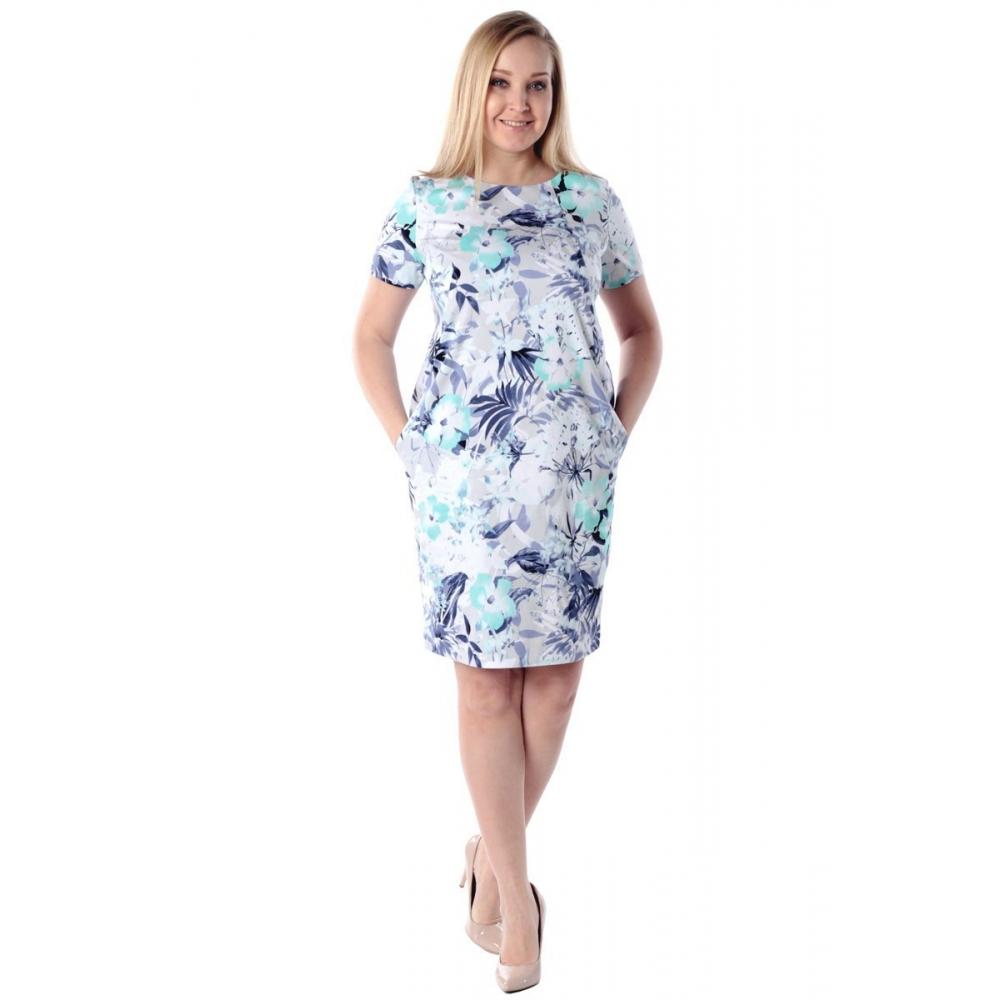 Платье Дана г70 хлопок цвет ментол