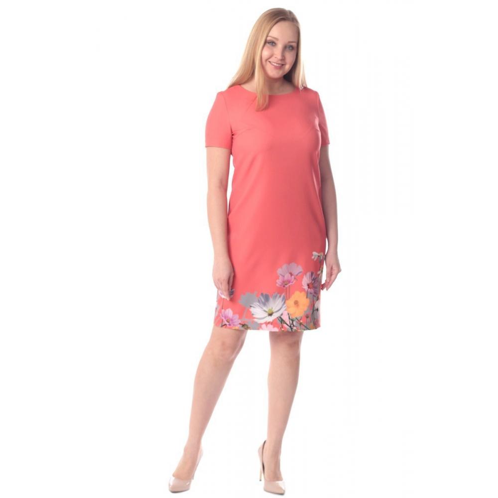 Платье Пенелопа г72 вискоза цвет коралловый