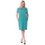 Платье Дана №2 а21 лен цвет морская волна