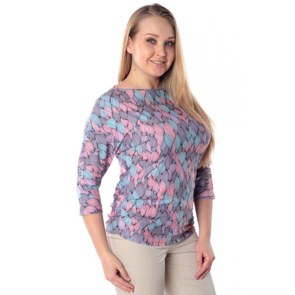 Блузка ВЕНЕРА №2 г50 вискоза цвет сиреневый