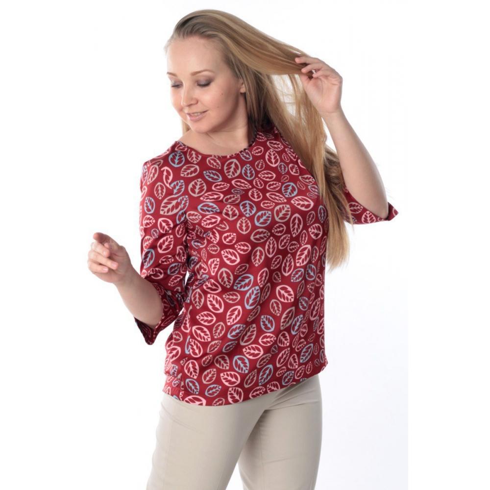 Блузка ЗЛАТА №3 г52 вискоза цвет красный