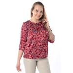 Блуза ЗЛАТА №3 г52 вискоза цвет красный