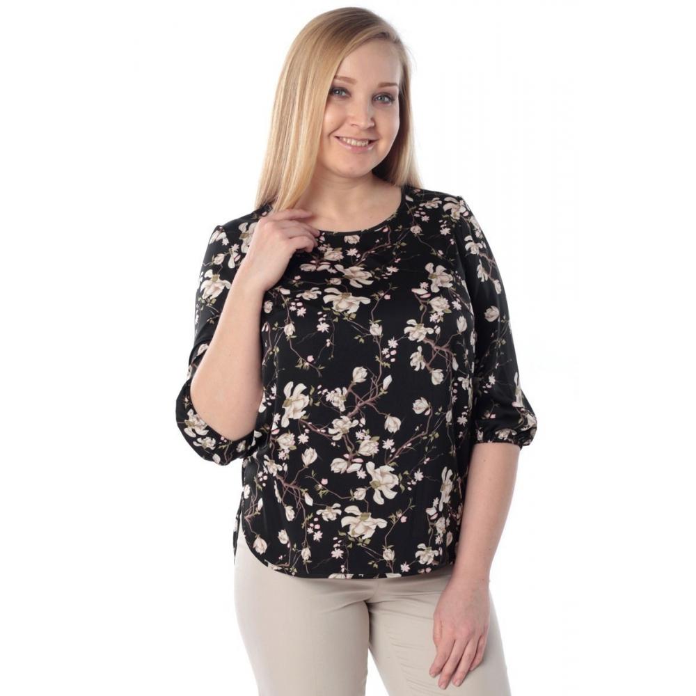 Блуза ДЖИНА №3 г56 вискоза цвет черный