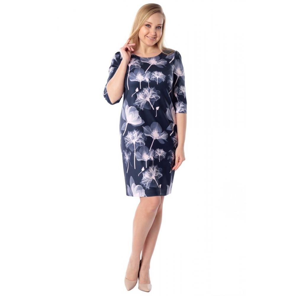 Платье САБРИНА №2 г58 вискоза цвет синий