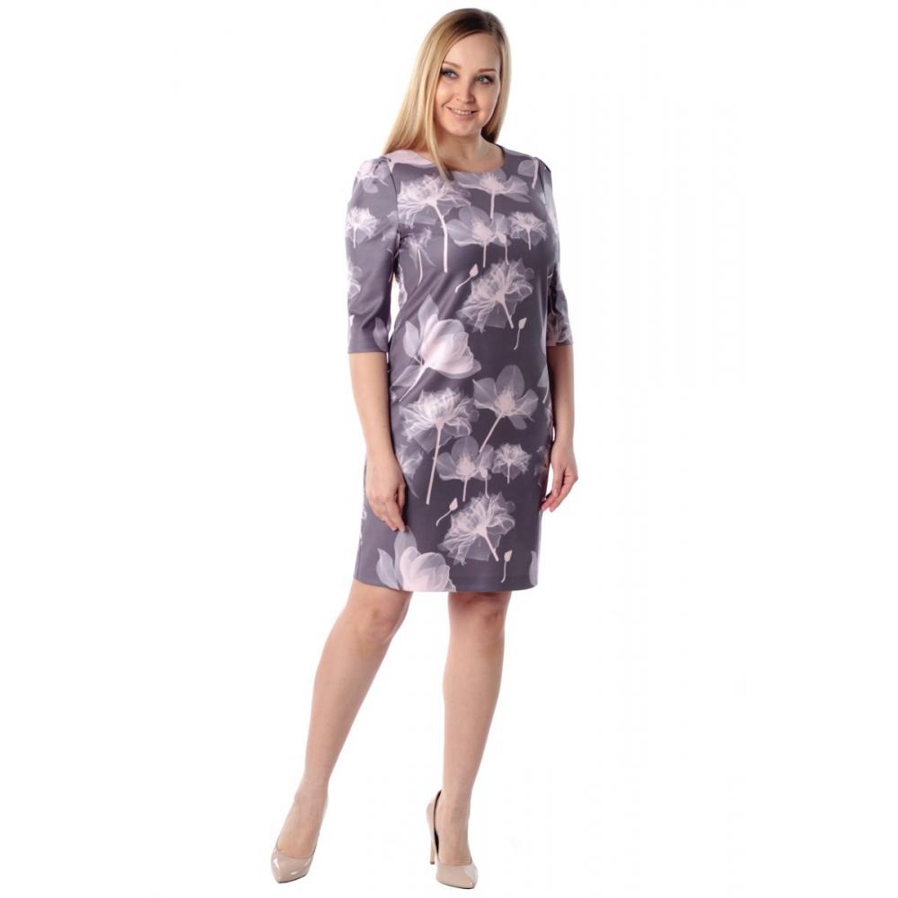 Платье САБРИНА №2 г61 вискоза цвет сиреневый