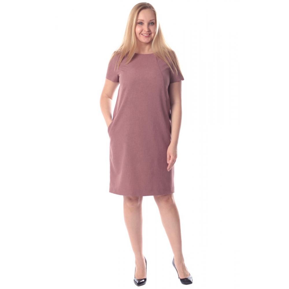 Платье Дана №2 а84 лен цвет пепел розы