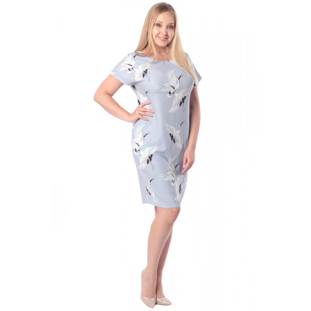 Платье ЛАРА №2 бб35 вискоза цвет жемчуг