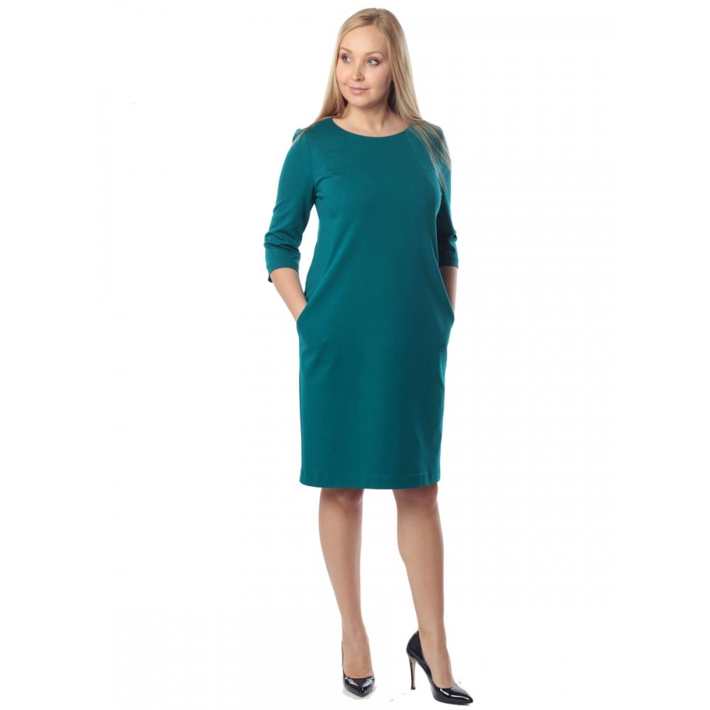 Платье РОНА а10 вискоза цвет изумрудный