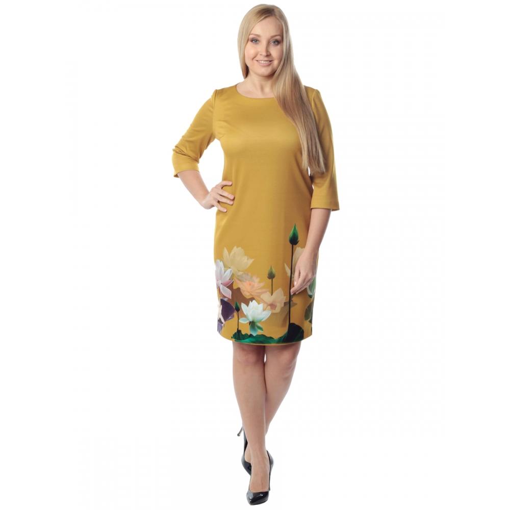 Платье АЗУРИТА в73 вискоза цвет горчичный