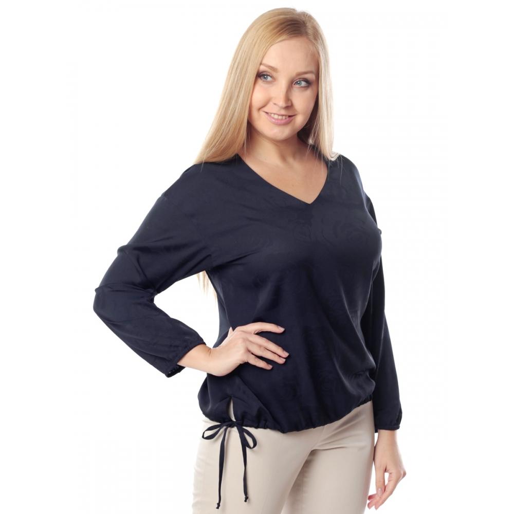 Блузка ЭТЕЛЬ а79 вискоза цвет синий