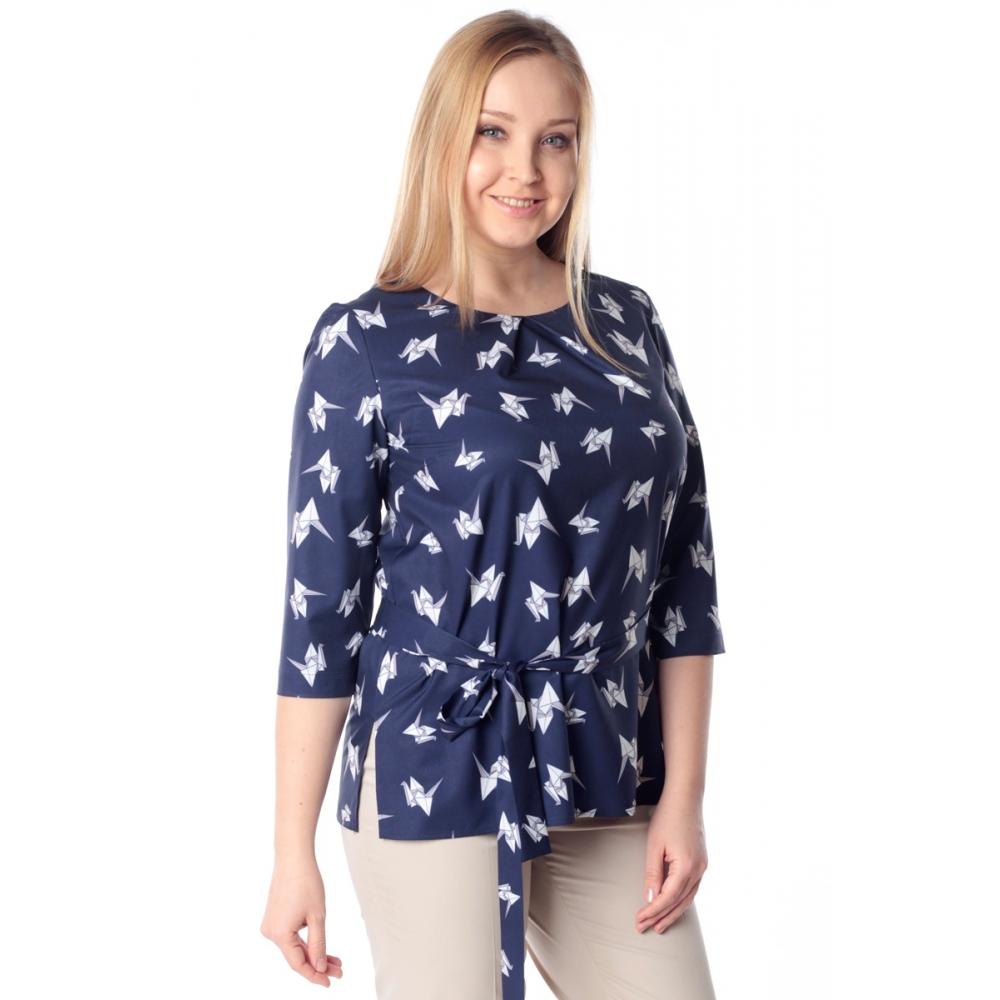 Блуза Колет №2 г34 вискоза цвет синий