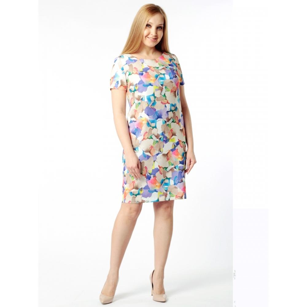 Платье Одри №2 б58 вискоза цвет мультиколор