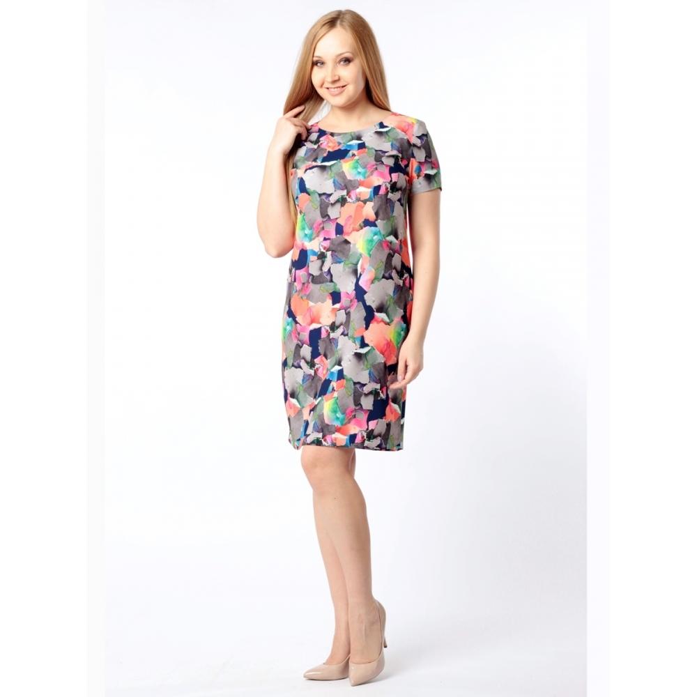 Платье Одри №2 б57 вискоза цвет мультиколор
