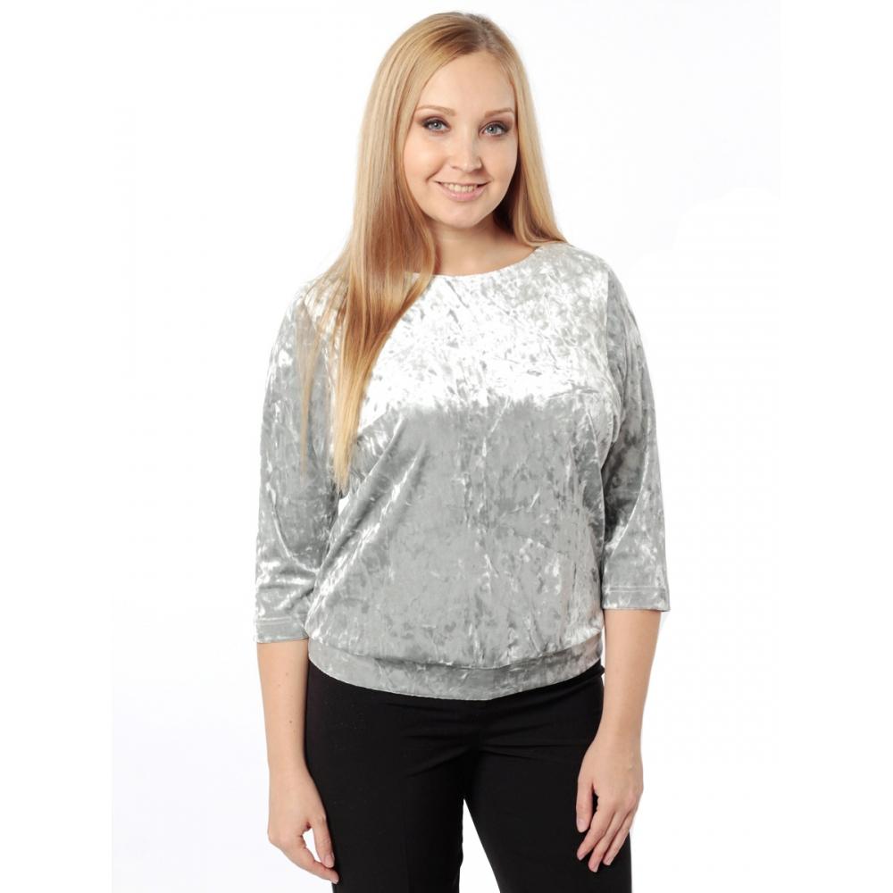 Блуза Селеста а4 бархат цвет серый