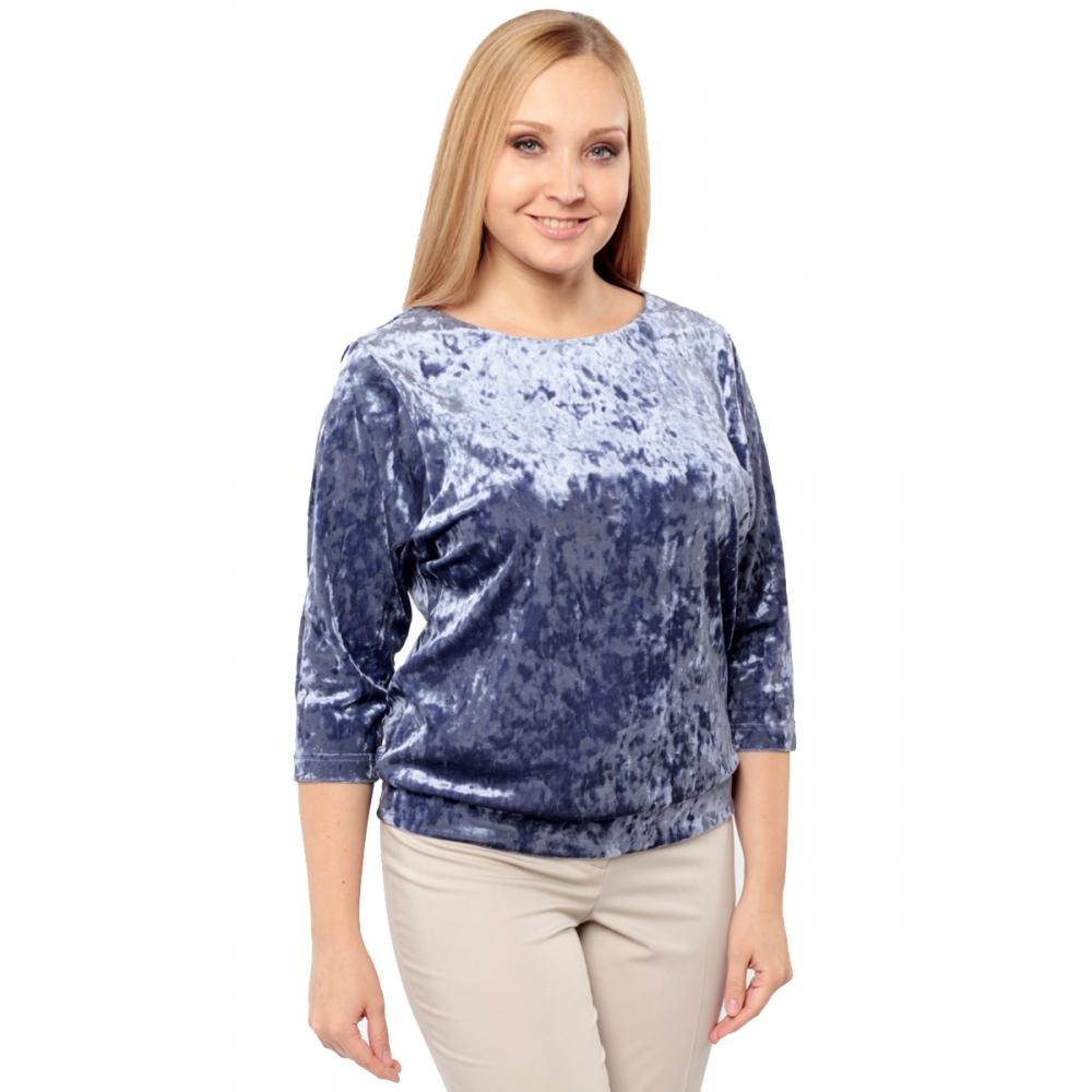 Блуза Селеста а7 бархат цвет лавандовый