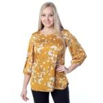 Блуза БЕРТА с51 вискоза цвет желтый