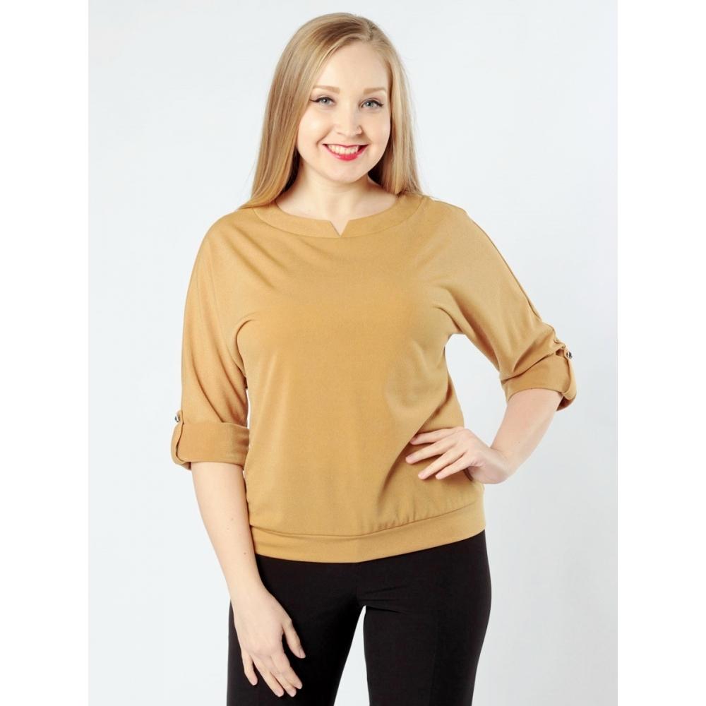 Блузка Ольга №2 а67 вискоза цвет бирюзовый, желтый, розовый