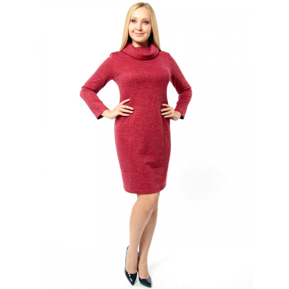 Платье Юна а55 вискоза цвет бордовый