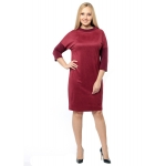 Платье Моник а38 вискоза цвет бордовый