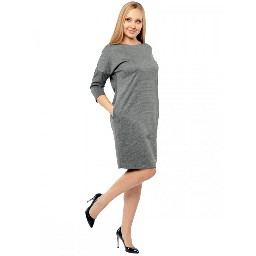 Платье Манон №4 в46 вискоза цвет светло-серый