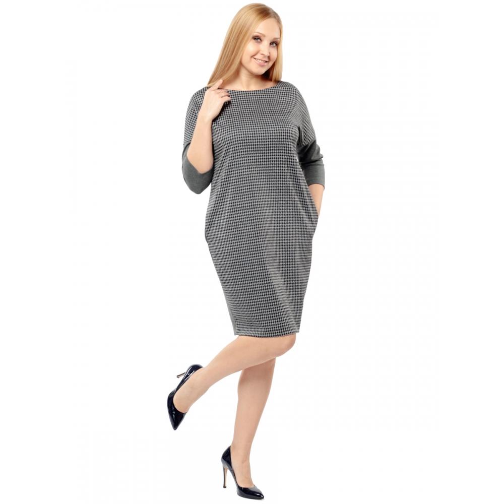 Платье Манон №4 в47 вискоза цвет темно-серый