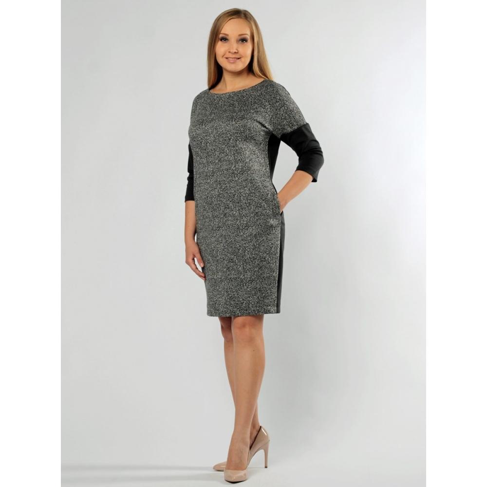 Платье Манон №2 шерсть цвет серый, бордовый